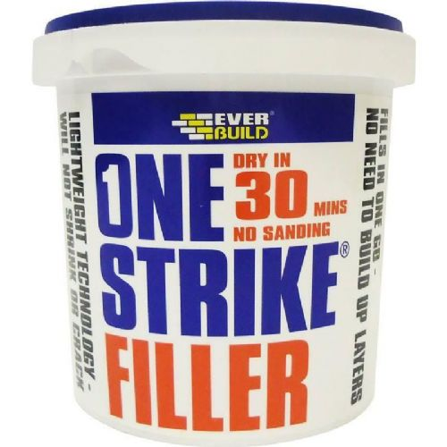 Everbuild One Strike Filler Dry in 30 Mins - No Sanding 250ml